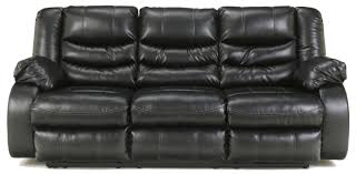 Leather Reclining Sofa Contemporary Faux Leather Reclining Sofa With Pillow Arms By