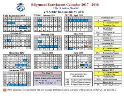 calendar events edgemont enrichment