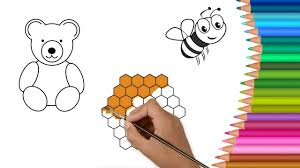 how to draw teddy bears coloring book for children learning colors