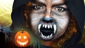 wolf i halloween make up tutorial i magscary youtube
