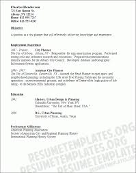urban planning resume objective awesome job objective statement