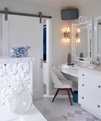Vanity Bathroom Stool by Makeup Vanities Bathroom Transitional With Gray Tile Acrylic