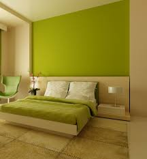 bedroom minimalist bedroom ideas with green wall painted and