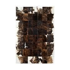Patchwork Cowhide Rug Patchwork Cowhide Brown Leather Carpet Rug Handmade By Furhome
