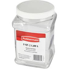 rubbermaid square food storage canister 2 qt clear walmart com