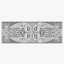 celtic ornament 3d model rosette cgtrader