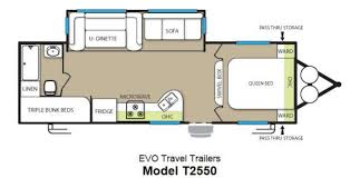 triple bunk travel trailer floor plans used 2013 forest river rv stealth evo 2550 travel trailer at rvs of