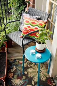 colorful home decor outdoor decorating small balcony design ideas with colorful rugs