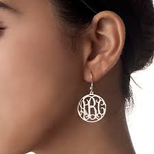 monogram earrings sterling silver monogram earrings set mynamenecklace