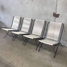 Folding Patio Chairs Vintage Mid Century Tubular Steel Folding Patio Chairs