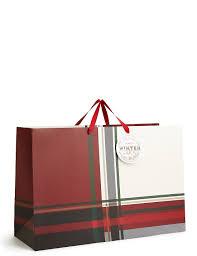 tartan extra large christmas gift bag m u0026s