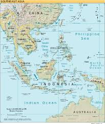map of asia countries and cities southeast asia