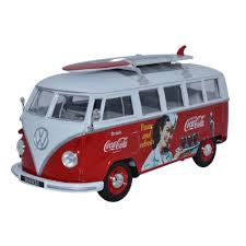 volkswagen van oxford diecast coca cola volkswagen bus model 22 00 hamleys