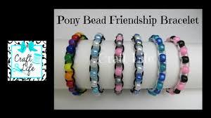 bead string bracelet images Craft life pony bead friendship bracelet tutorial jpg