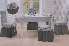 Enchanting Grey Dining Room Chair Covers  About Remodel Dining - Covers for dining room chairs