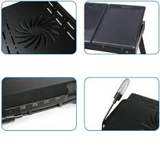 laptop desk for lap with fan com imountek multi functional portable table and mouse laptop