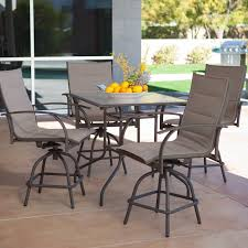 Tall Patio Set by Outdoor Bar Height Furniture Sets Latest Fashion Ideas To Refine