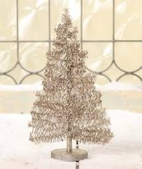 small tinsel tree retro decorations theholidaybarn