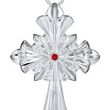 waterford silver cross ornament 2017 silver superstore