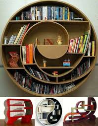 round strange bookcase designs home interior design ideas