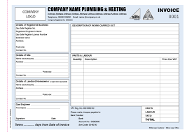 invoice books for plumbers personalised duplicate pads