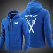 cheap sword art online hoodie for men zip design sweatshirtxy com