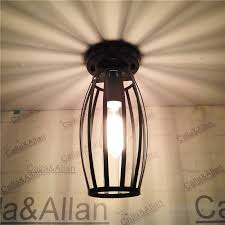 industrial cage light bulb cover vintage industrial l covers pendant ceiling edison light fitting