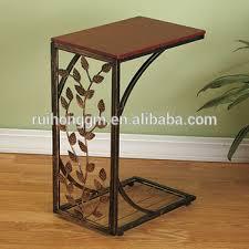 metal and wood cherry finish decorative vine leaf scroll design