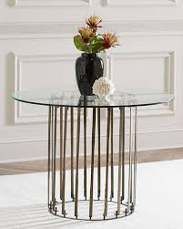 antiqued glass table horchow com
