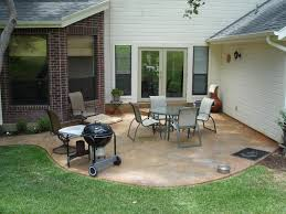 Deck And Patio Ideas For Small Backyards by Concrete Patio Cost Concrete Patio Designs For Warm Look