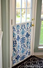 Magnetic Curtains For Doors Remodelaholic No Sew Magnetic Window Covering