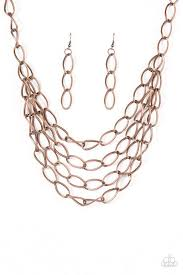 layered necklace chain images Paparazzi quot chain reaction quot copper link layered necklace earring jpg