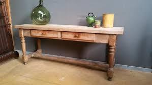 table de cuisine ancienne ancienne table console de cuisine en frene blanchi xixeme