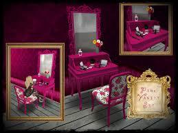 Pink Vanity Table Boudoir Couture Furniture Vitabela