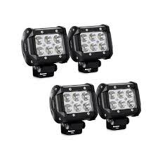com led light bar nilight 4pcs 18w 1260lm spot led pods driving fog light off road lights bar jeep lamp 2 years warranty automotive