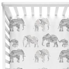 gray marble elephant parade bumperless crib bedding u2013 caden lane