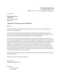 cover letter internship student internship cover letter sle adriangatton