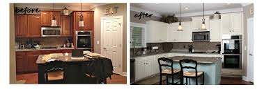 Paint Kitchen Cabinets Painted Kitchen Cabinets Before And After How To Chalk Paint Cool