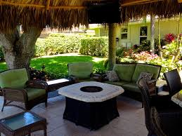 Tiki Outdoor Furniture by Tiki Hut Outdoor Kitchen And Landscaping Tropical Miami By