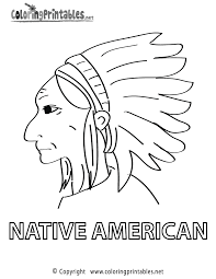 native american coloring pages printables coloring home