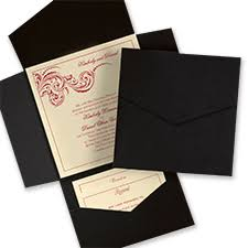 invitation pockets pockets wedding carlson craft wedding stationery products