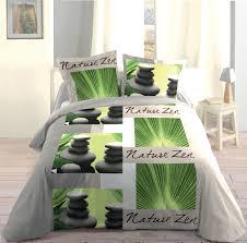 housse de couette montagne chalet parure de lit décor zen 220x240 housse de couette 2 taies 63x63