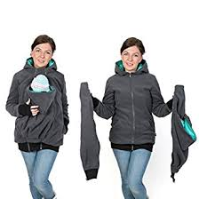 3in1 maternity multifunctional kangaroo hoodie jacket for mom and
