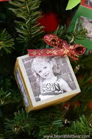 diy photo block ornaments pinterest party crafts pinterest