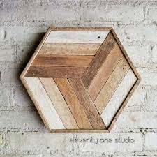 reclaimed wood wall art or wood table tray by eleventy one studio