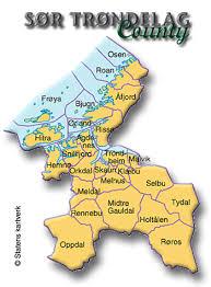 map of county county sør trøndelag