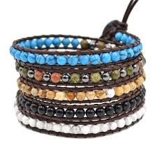 bracelet beads leather images Beaded leather fashion design images jpg