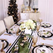 black and white table settings how to style a christmas table setting styled settings
