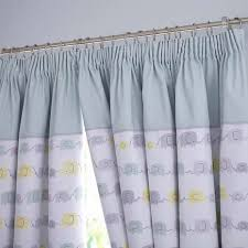 Dunelm Mill Nursery Curtains Ellie And Friends Nursery Blackout Pencil Pleat Curtains Dunelm