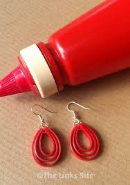 plastic bottle earrings plastic earrings from recycled sauce bottles the links site